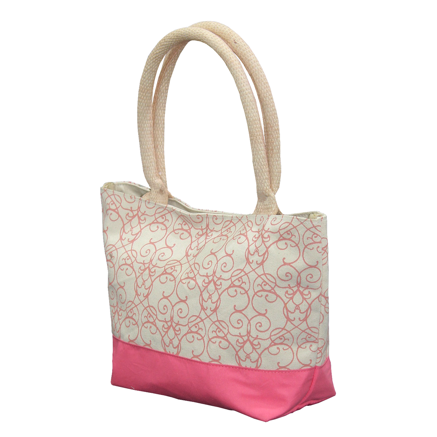 12 Oz Natural Canvas Printed Tote Bag With Inside Lining