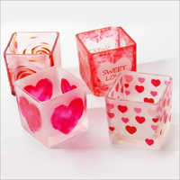 Heart Square Candle Jar Votive Holder