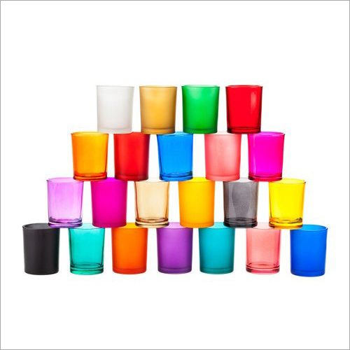 Colored Candle Glass Votive Holder