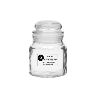 100ml Aromatic Candle Empty Glass Jar with Glass Lid