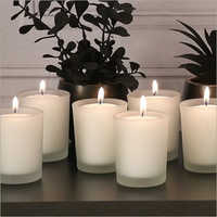 Frosted Candle Glass Votive