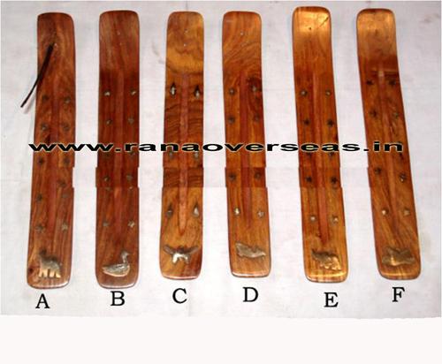 Wooden Wood Incense Burner Holder Ash Catcher for Sticks