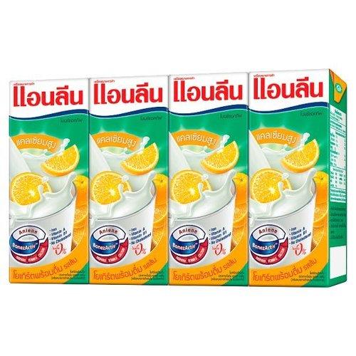 Anlene Bone Active UHT Orange Yoghurt Flavor 180ml x 4pcs