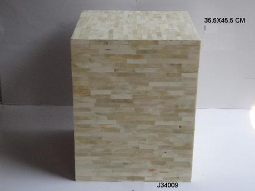 Bone Inlay Furniture Stool Square