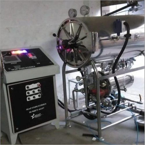 SS Cylindrical Horizontal 3 Drum Autoclave