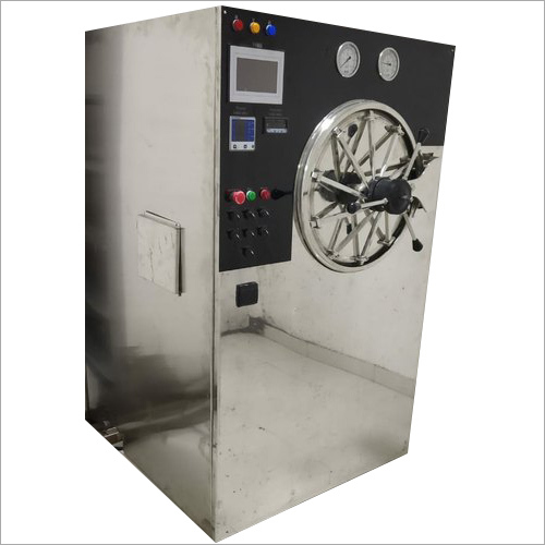 185 Litre Box Pack Cylindrical Horizontal 3 Drum Autoclave
