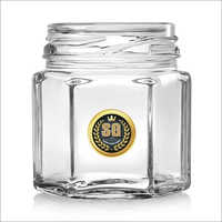 45ml Hexagonal Glass Jar