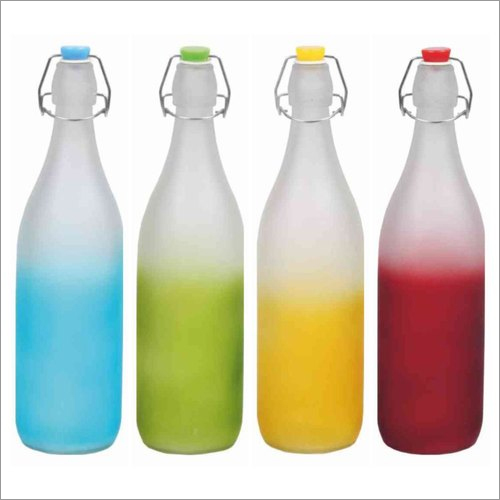 1000 ML Frosted Color Glass Swing Bottles