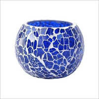 Glass Mosaic Finish Tea Light Holder
