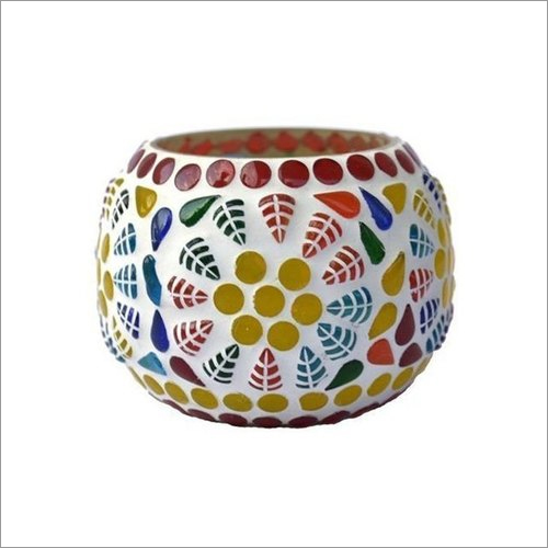 Handmade Glass Mosaic Tea Light Holder