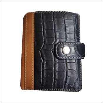 Mens High Wallet with Metal Card Case