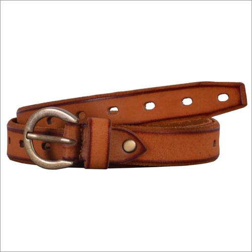 Genuine Tobacco Leather Ladies Belt