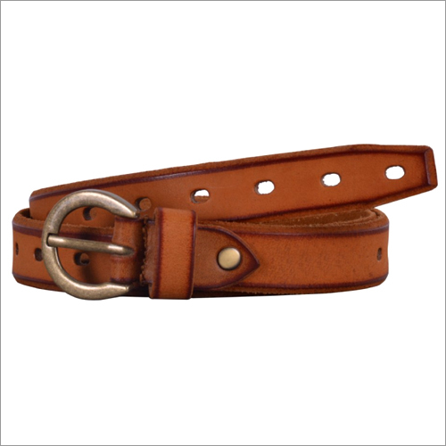 Genuine Tobaco Leather Ladies Belt