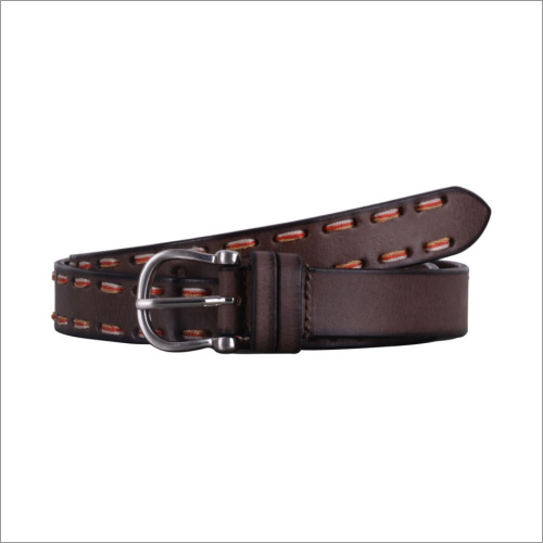 Genuine  Brown Leather Ladies Belt