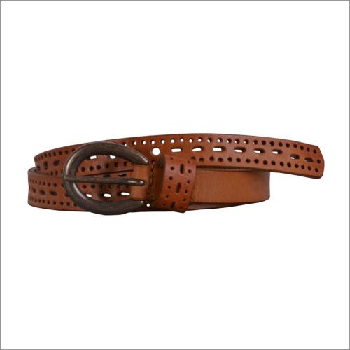 Genuine Tan Leather Ladies Belt
