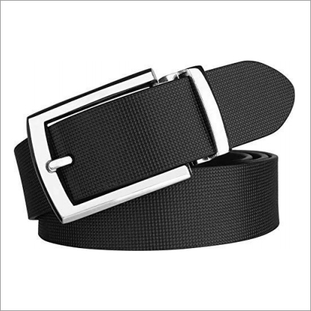 Genuine Black Leather Mens Belt