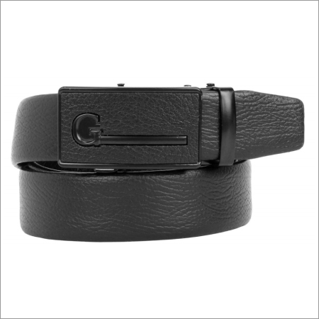 Genuine Black Leather Mens Belt
