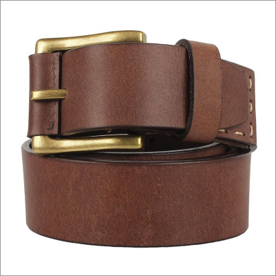 Genuine Brown Leather Mens Belt