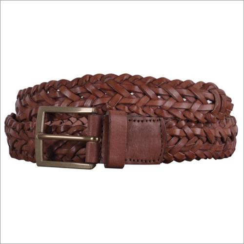 Genuine Brown Leather Mens Belt