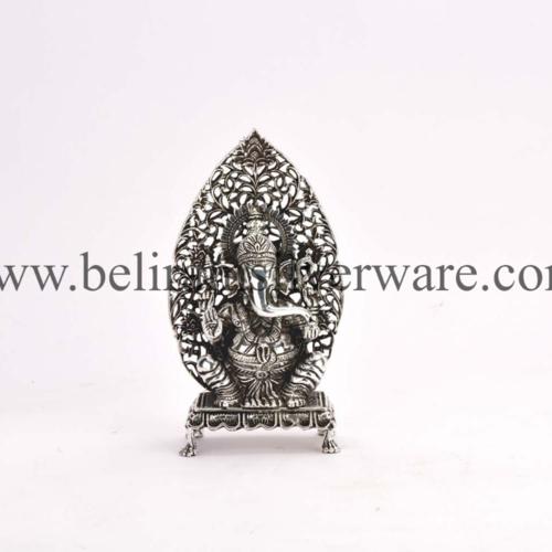 Nakshi Silver Lakshmi Ganesha Murti