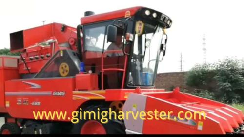 4 Rows Corn Combine Harvester