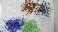 Recycled Mix Color Crushed Glass Chips For Terrazzo Contruction And Micriart Work Use