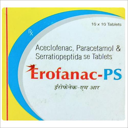 Aceclofenace Paracetamol and SerratiopeptidaSe Tablets
