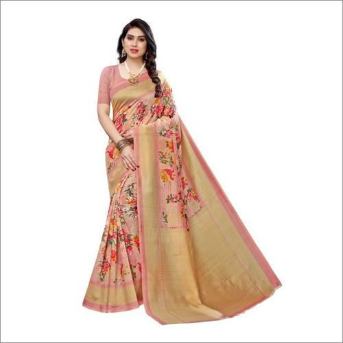 Art Silk Sarees With Superb Floral Prints