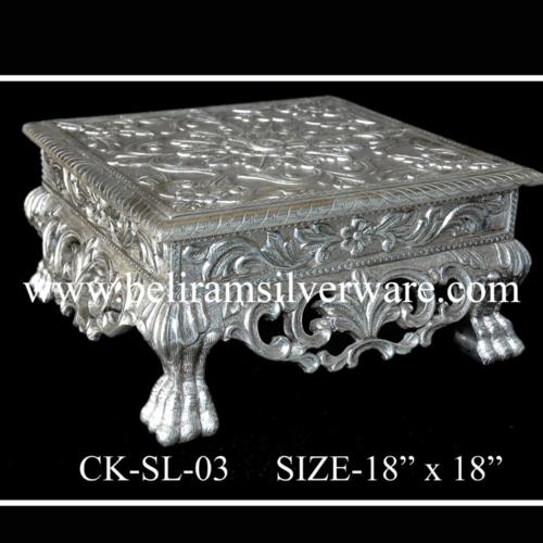 Antique Silver Chowki