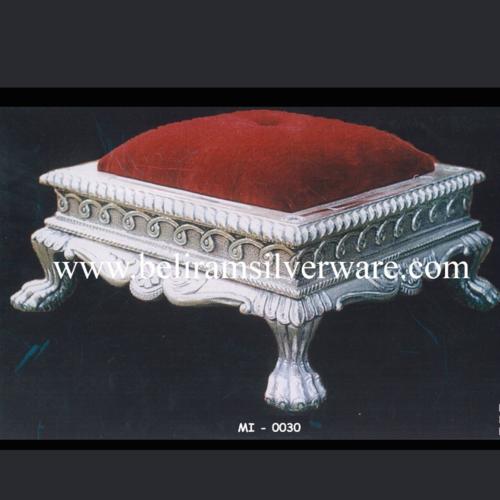 Royal Cushioned Silver Chowki