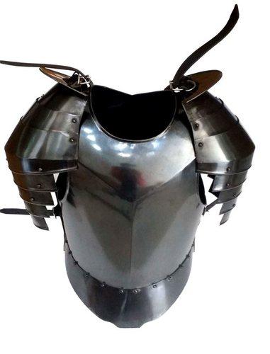 Black Antique Medieval Flute Armor Collectible Breastplate Armor w/Shoulder ~ Armor Jacket