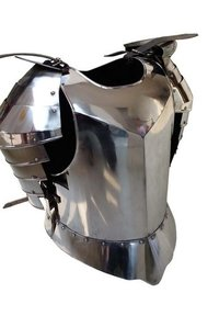Medieval Breastplate Silver Flute Armor