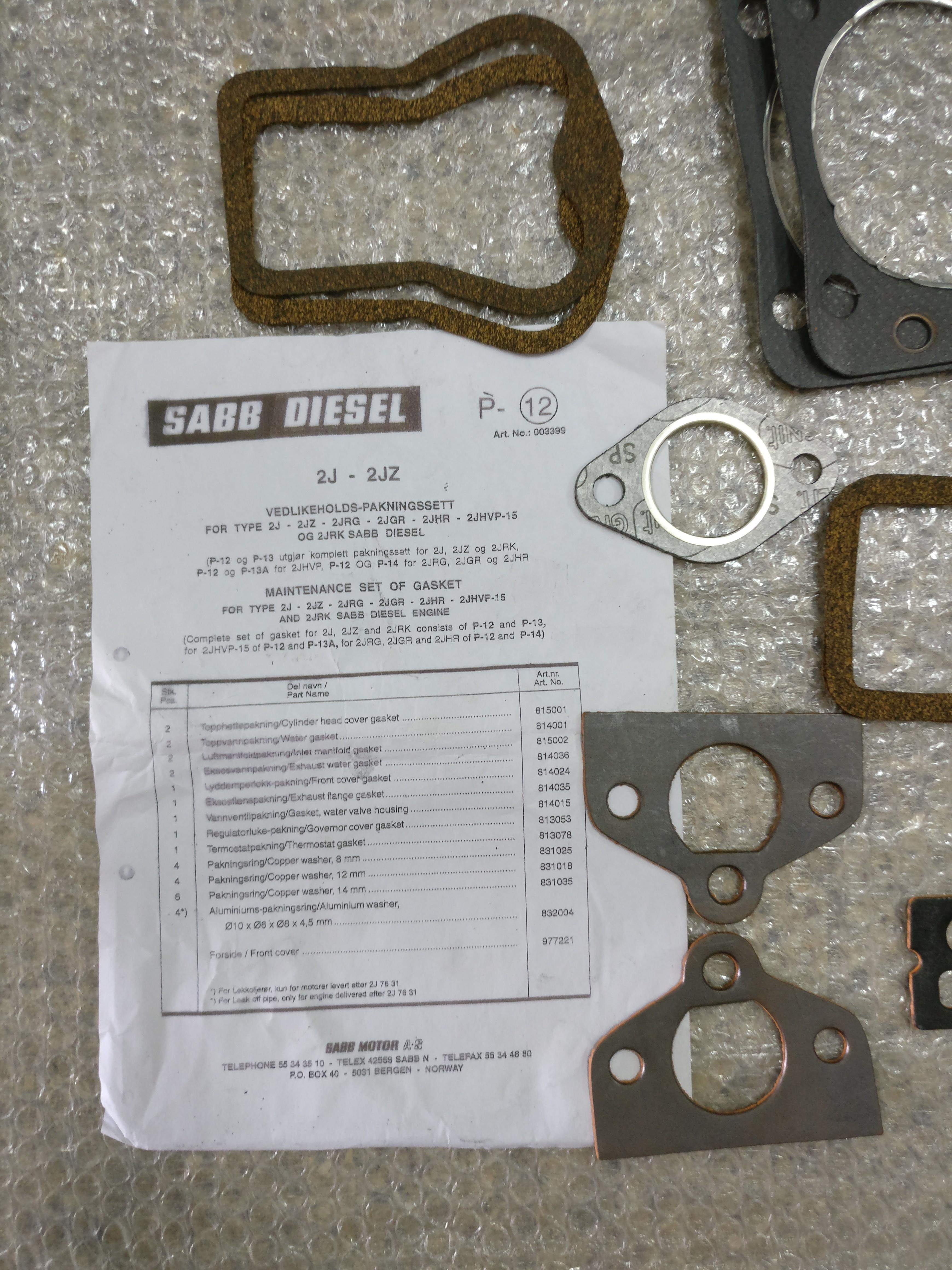 Packing Kit for Sabb Engine