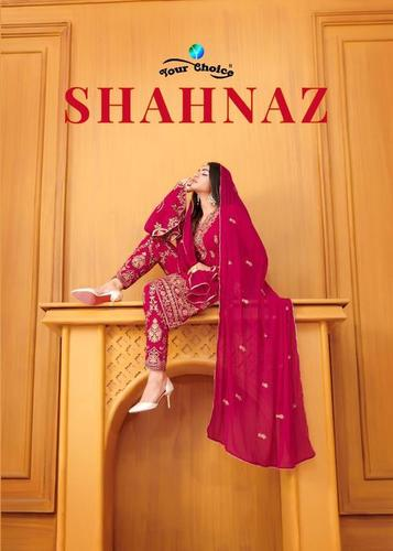 Shahnaz Designer Party Wear Georgette Dress Materials