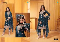 Shahnaz Designer Party Wear Georgette Dress Materials