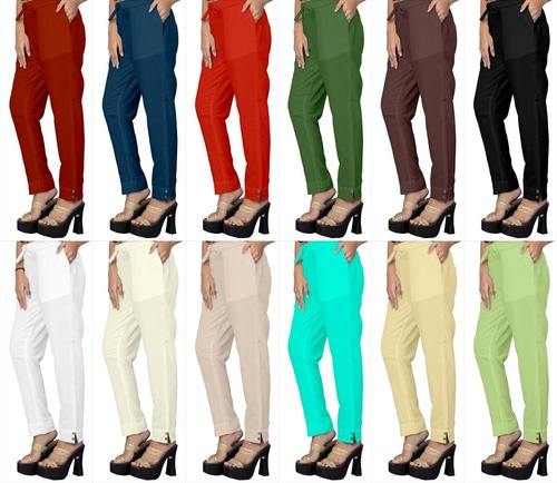 Pencil Pant Designer Cotton Slub Pant