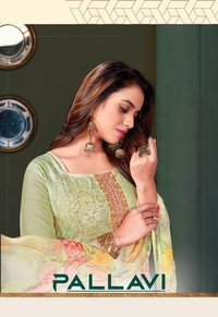 Pallavi Digital Premium Cotton With Full Jal Work Salwar Suits Catalog