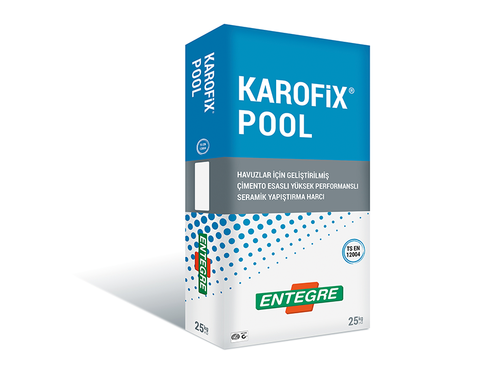 Cement-Based High Performance Tile Adhesive Mortar For Pools, KAROFIX POOL