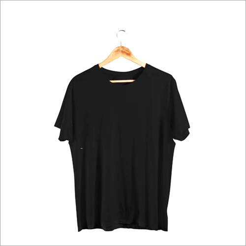 Black Solid T Shirt