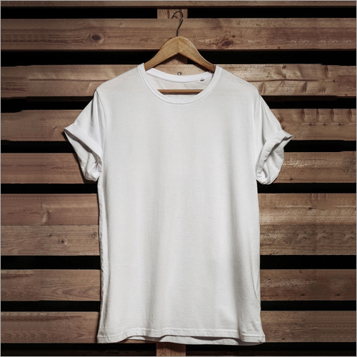 White Solid T Shirt