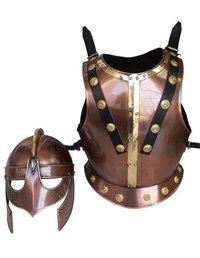 Medieval Valsgarde Breastplate Armor Costume Armor and Helmet