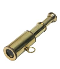 Nautical Brass Miniature Keychain Telescope Marine Key Chain Collectible Gift