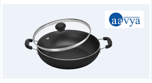 Non Stick Kadhai With Glass Lid