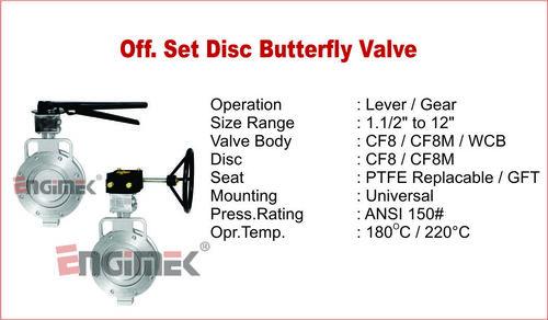 Offset Disc Butterfly Valve