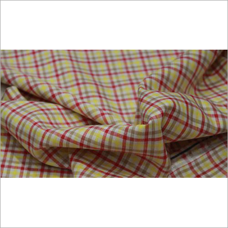 Check Linen Shirting Fabric