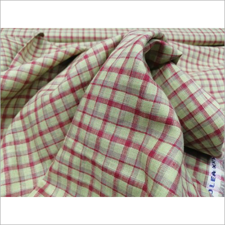 Mens Check Linen Shirting Fabric