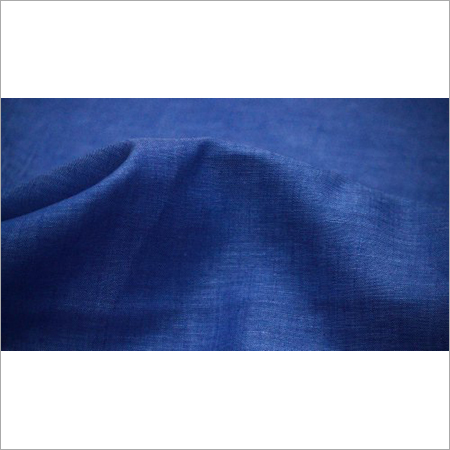 Blue Plain Linen Fabric