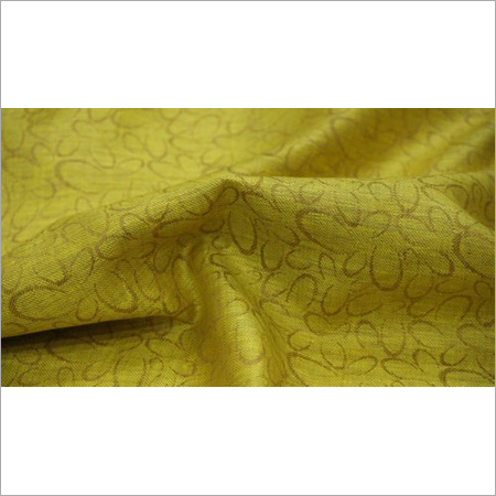 Yellow Jacquard Linen Fabric