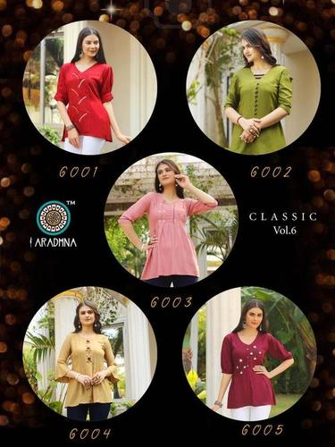 CLASSIC VOL 6 Designer Heavy Rayon with Embroidery & Manual Work Kurtis
