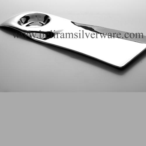 Modern Silver Platter With Inbuilt Bowl